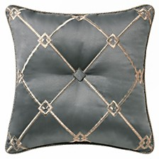 "Waterford Dimitrios Charcoal 18"" X 18"" Square Collection Decorative Pillow"