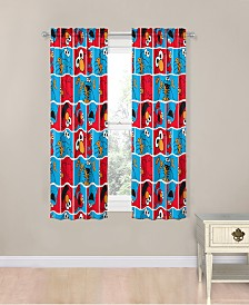 "Sesame Street Elmo Cookie Squares 63"" Drapes"
