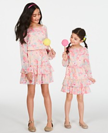Epic Threads Big & Little Girls Floral-Print Smocked Dress, Created for Macy's