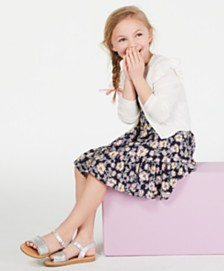 Epic Threads Little Girls Ruffle Cardigan & Floral-Print Dress, Created for Macy's
