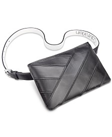 Calvin Klein Pieced Leather Belt Bag