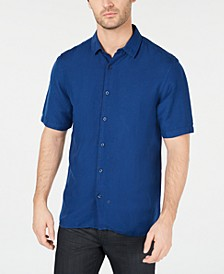 Men's Lagoon Stretch Linen Blend Shirt, Created for Macy's