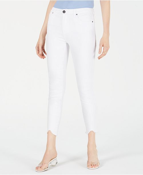 Kut from the Kloth Connie High-Rise Step-Hem Skinny Ankle Jeans