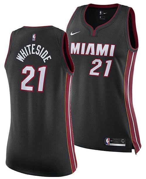 best service 228c2 0fd62 Women's Hassan Whiteside Miami Heat Swingman Jersey
