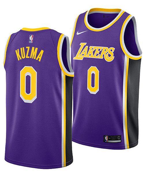 Nike Men's Kyle Kuzma Los Angeles Lakers Statement Swingman Jersey