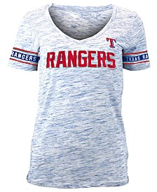 5th & Ocean Women's Texas Rangers Space Dye T-Shirt