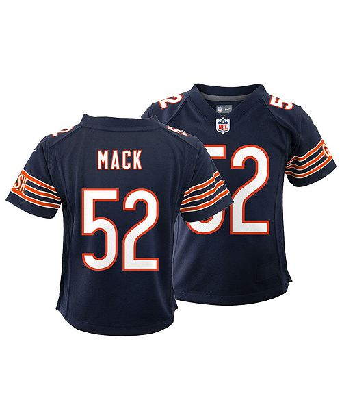 lowest price e752b 3e883 Little Boys Khalil Mack Chicago Bears Game Jersey