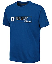 Colosseum Big Boys Duke Blue Devils Boxed Logo Polyester T-Shirt