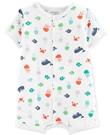 Carter's Baby Boys Cotton Printed Romper