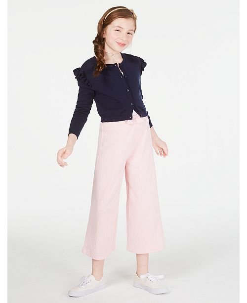 Epic Threads Big Girls Ruffle Cardigan, Crisscross Cami & Culottes, Created for Macy's