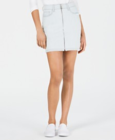 M1858 Valerie Zip-Front Denim Skirt, Created for Macy's