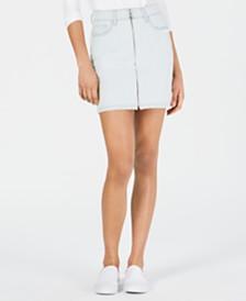 M1858 Valerie Zip-Front Denim Skirt, Created for Macy's