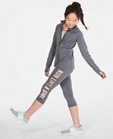 Ideology Big Girls Run Like a Girl T-Shirt, Track Jacket & Leggings Separates, Created for Macy's