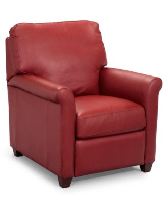 pavia leather club pushback recliner - Club Chair