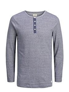 Men's Melange Henley Tshirt