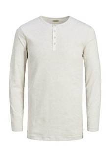 Jack & Jones Men's Melange Henley Tshirt