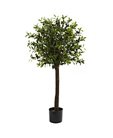 Nearly Natural 4' Olive Topiary Faux Silk Tree