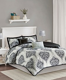 Senna 5-Pc. Reversible Full/Queen Comforter Set