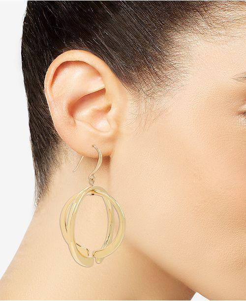 20009abde Robert Lee Morris Soho Gold-Tone Geometric Layered Orbital Drop Earrings ...