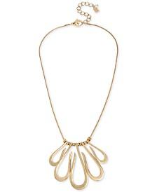 "Robert Lee Morris Soho Gold-Tone Loop Frontal Necklace, 18"" + 3"" extender"