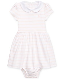Polo Ralph Lauren Baby Girls Striped Cotton Interlock Dress