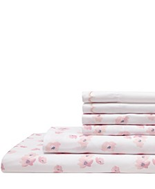 Spring Meadow Print/ Embroidered King Sheet Sets
