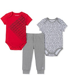 Calvin Klein Baby Boys 3-Pc. Bodysuits & Jogger Pants Set