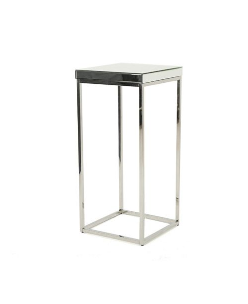 Noble House Callia Industrial Mirrored Side Table