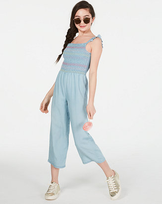 Big Girls Smocked Jumpsuit, Created For Macy's by General