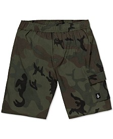 Volcom Big Boys True Volley Camo-Print Swim Trunks