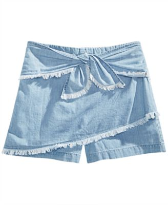Big Girls Cotton Denim Skort