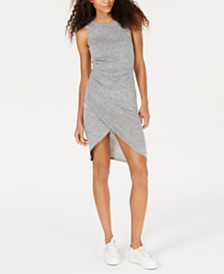 Bar III Ruched Heathered Bodycon Dress, Created for Macy's