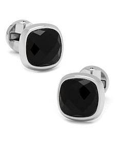 Faceted Onyx Cushion Cufflinks
