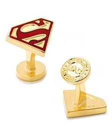 Enamel Superman Shield Cufflinks