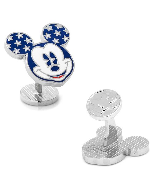 Cufflinks Inc. Vintage Stars and Stripes Mickey Mouse Cufflinks