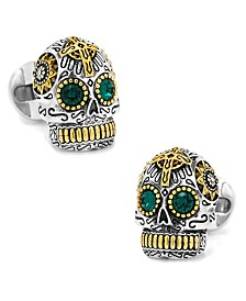 Sterling and Day of the Dead Skull Cufflinks