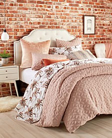 Home Raised Petal Full/Queen Comforter Set