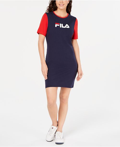 the latest performance sportswear superior materials Roslyn Colorblocked T-Shirt Dress