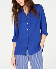 MICHAEL Michael Kors Drop-Shoulder Shirt