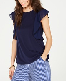 MICHAEL Michael Kors Ruffled Cascade Top, Created for Macy's