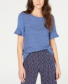 MICHAEL Michael Kors Striped T-Shirt, Regular & Petite Sizes