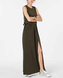 MICHAEL Michael Kors Grommet-Laced Maxi Dress, Regular & Petite, Created for Macy's