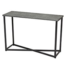 Slate Faux Concrete Sofa Table