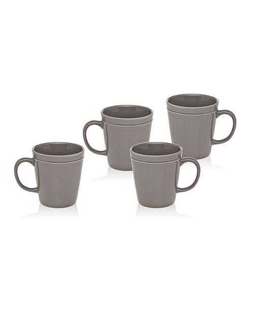 Godinger Culinara Slate Set/4 Mugs