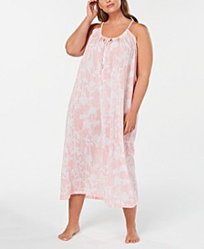 Plus Size Printed Cotton Nightgown, Created for Macy's