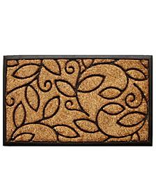 "Vine Leaves 18"" x 30"" Coir/Rubber Doormat"