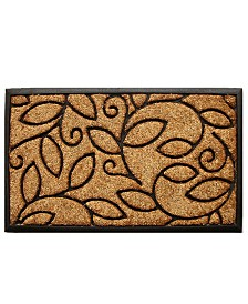 "Vine Leaves 18"" x 30"" Coir/Rubber Doormat"
