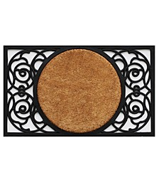 Armada Circle Coir/Rubber Doormat Collection