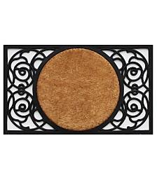 Home & More Armada Circle Coir/Rubber Doormat Collection