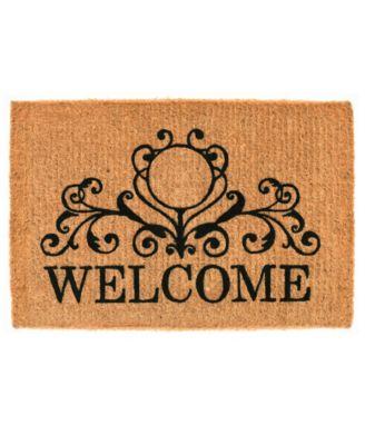 """Kingston Welcome 18"""" x 30"""" Coir Doormat"""